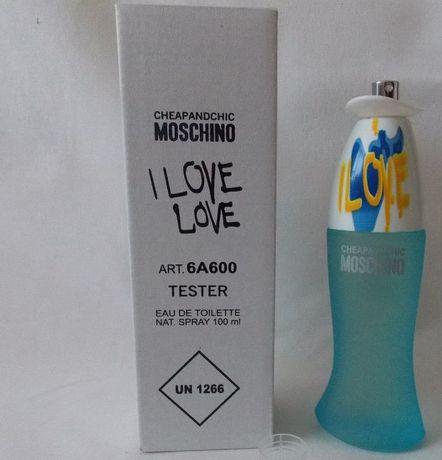 Moschino I Love Love (тестер) туалетная вода качество очень хорошое