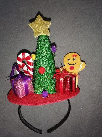 Opaska na głowę świąteczna