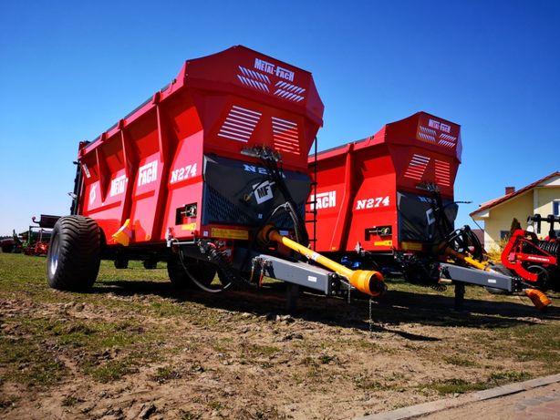 WYPRZEDAŻ Rozrzutnik obornika METAL-FACH N274 - 10 ton - OD RĘKI !!