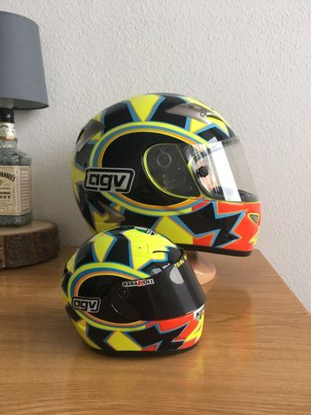 Model Kasku Motocyklowego Agv Ti Tech Vr46 Valentino Rossi Minichamps