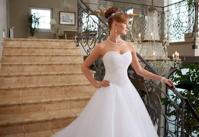 Okazja!!! Sprzedam Śliczną Suknie ślubną z Kryształkami Swarovskiego