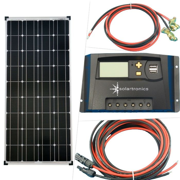 Paineis Solares - 100W Kit solar de Autocaravanas, barcos, etc