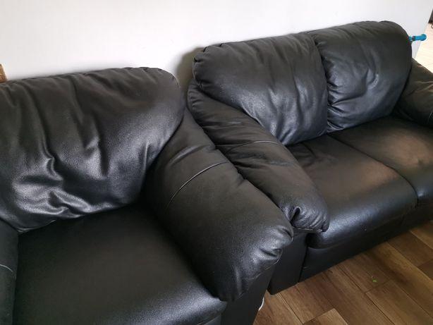 Sofa skórzana 3+2+1
