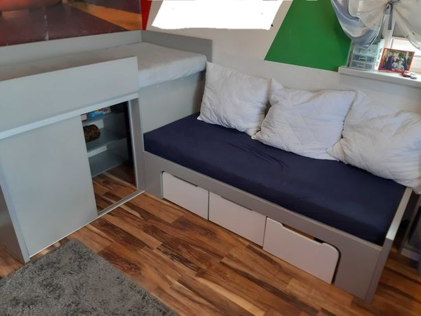 Podwójne młodziezowe łóżko modułowe