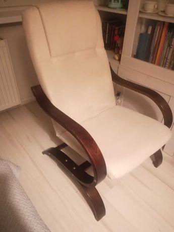 Fotel biały, salob