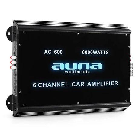 Nowy 6 - kanałowy wzmacniacz samochodowy, 6000W. Auna