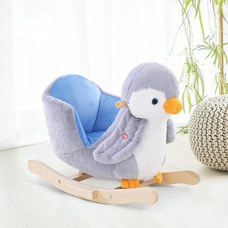 Fotel bujany Pingwin na biegunach