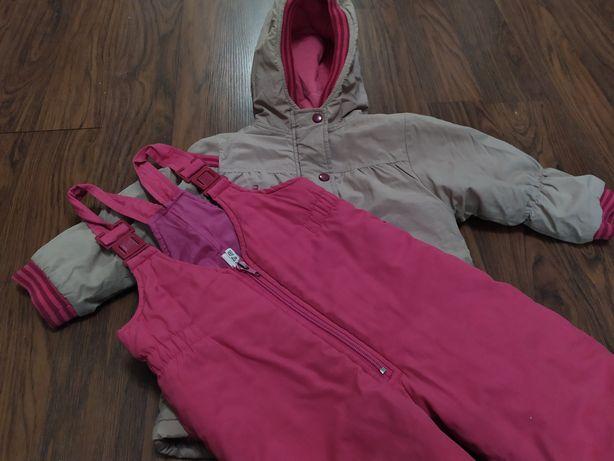 Курточка и полукомбинезон (комбез) на девочку 2-3 года. Комплект