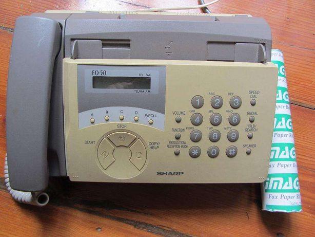 Telefone e fax Sharp FO-50+ 9 rolos papel