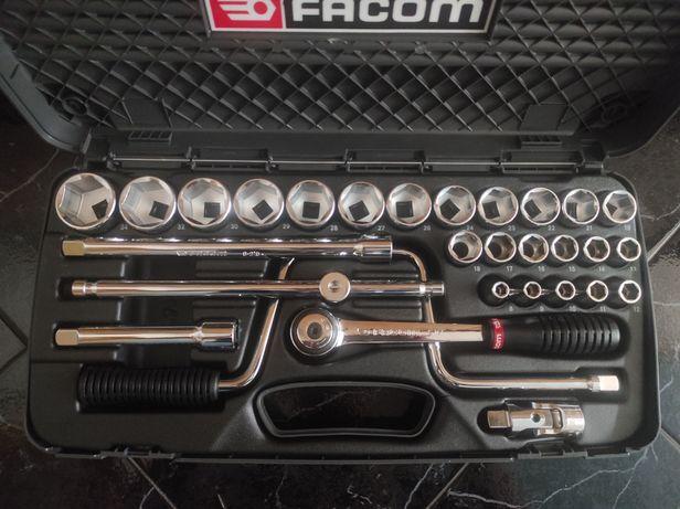 Jogo de chaves de caixa MBox Facom  S.441AP 1/2 Polegadas Novo