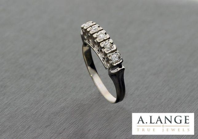Pierścionek z diamentami 0,30 ct białe złoto pr. 585 14K VINTAGE