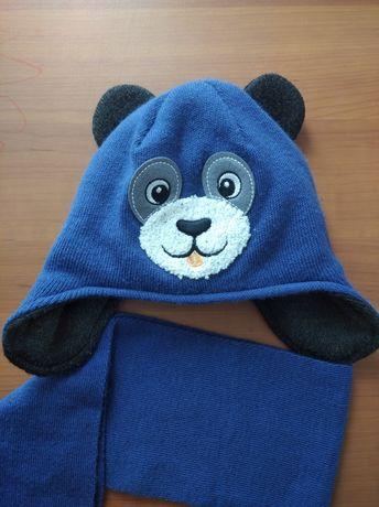 Зимняя шапка для мальчика, комплект 1-3 годика