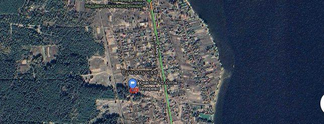Продажа участка возле Днепра Вышгородский р-н с. Сухолучье без комисси