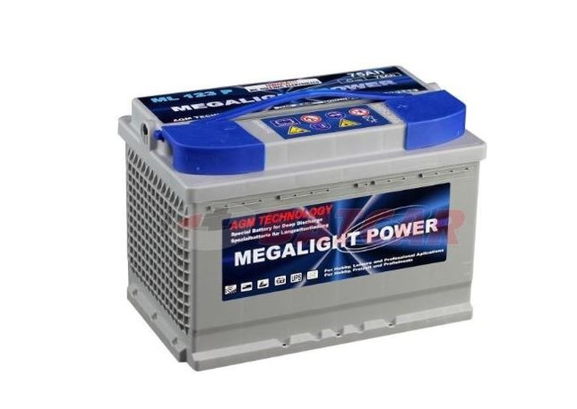 Akumulator Megalight 75Ah do łodzi , pontonu , silnika elektr. Dostawa