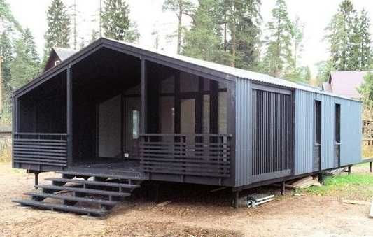 Деревянный модульный дом Сканди 72 кв м