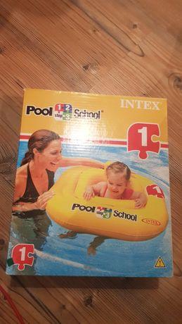 Nadmuchiwane siedzenie pool school intex krok 1