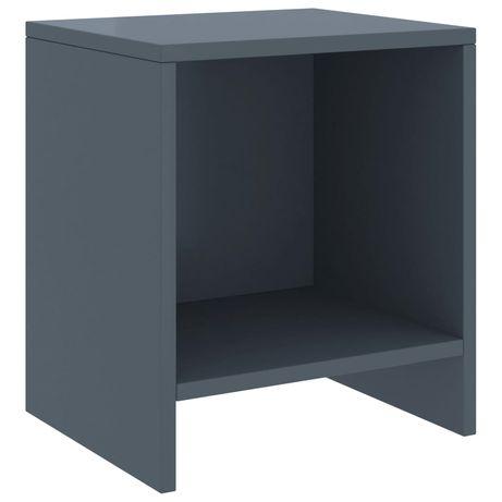 vidaXL Mesa de cabeceira 35x30x40 cm pinho maciço cinzento-claro 322237
