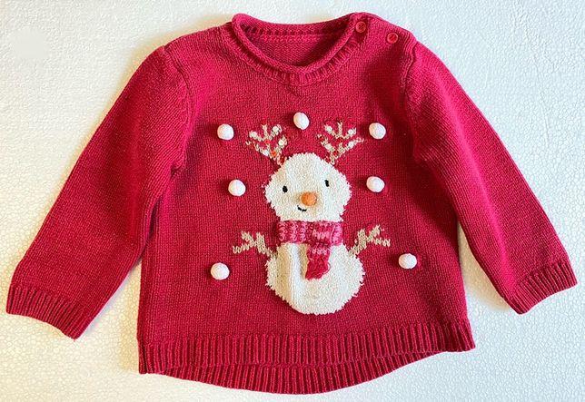 Детский свитер для девочки/мальчика новогодний свитер для фотосессии