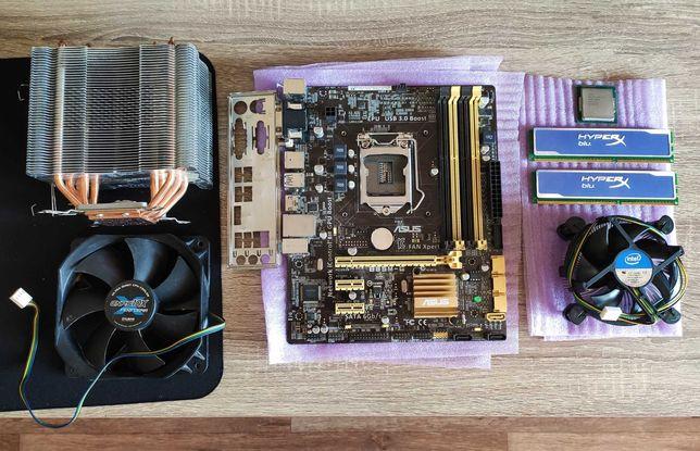 Intel i5 4670, ASUS B85M-G, DDR3 2x4GB 1600, Zalman CNPS10X Performa