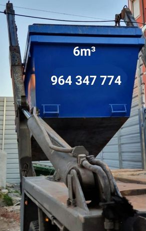 Aluguer de contentores para entulho de obras e todo o tipo de resíduos