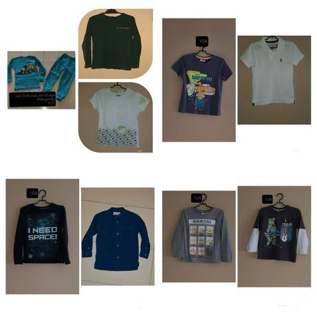 Paka zestaw 10szt 104 pizama tshirt koszulka bluzka koszula polo