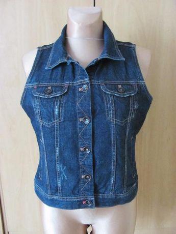 Bezrękawnik-jeans-38-40