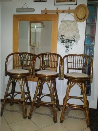 Hokery rattanowe hoker stołki barowe krzesła krzesło wysokie ratan