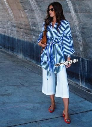 Платье рубашка миди мини Zara коттон