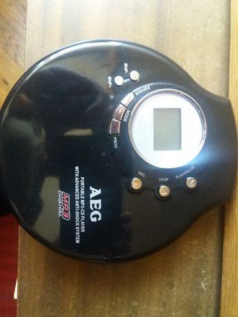 AEG NOWY Discman przenosny odtwarzacz plyt cd mp3