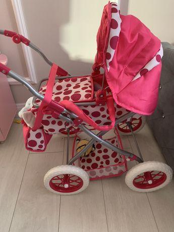 Wózek dla lalek z kropki , zadbany