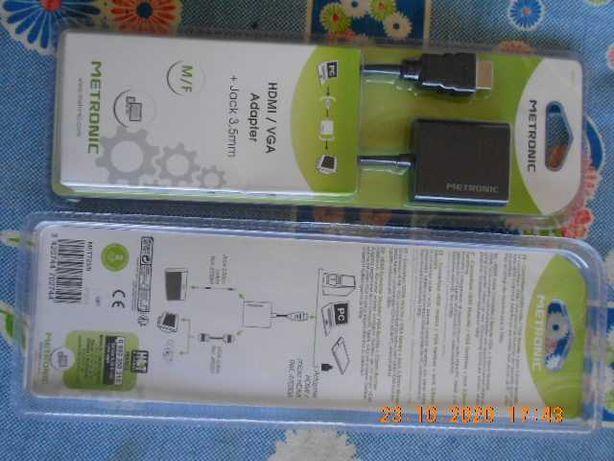 cabos adaptadores HDMI para VGA e de rede RJ45 ATENÇÃO LER O ANUNCIO