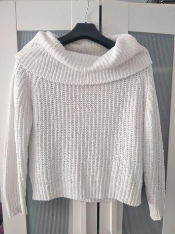 Sweter biały damski