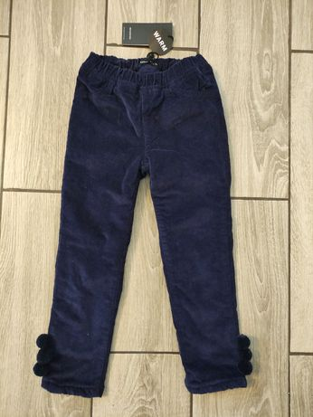 Reserved NOWE zimowe ocieplane spodnie dziewczęce 116