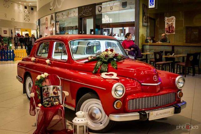 Czerwoną Warszawą do ślubu. Samochód do ślubu - auto Olsztyn i okolice