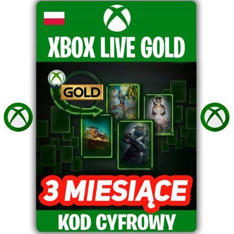 XBOX Live Gold 3 miesiące KOD ZDRAPKA 90 DNI Xbox One KEY PL