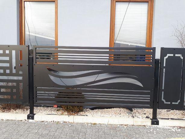 przęsła Modern wypalane z blachy brama furtka Euro-Met