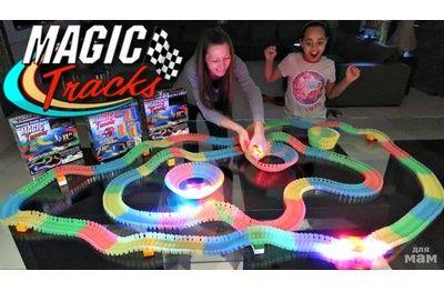 Magic Tracks 360 деталей Mega Set Детская Игрушечная Дорога Трек