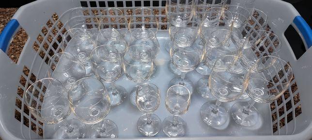 Conjunto 24 copos de vidro + conjunto 14 copos champanhe