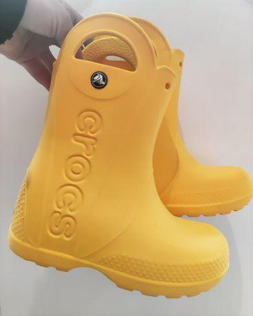 Crocs резинові чобітки дитячі