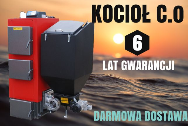 130 m2 Kocioł 20 kW PIECE z PODAJNIKIEM na EKOGROSZEK Kotły 17 18 19