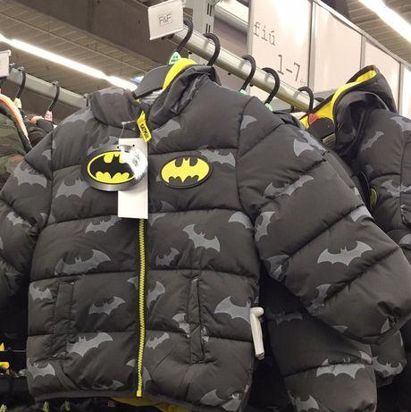 Зимняя куртка курточка для мальчика batman бэтмен
