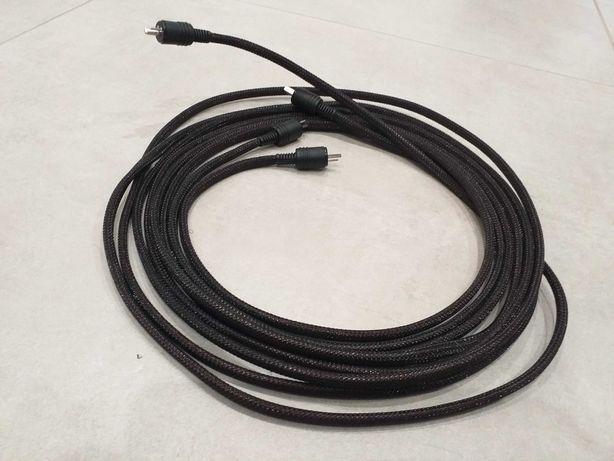 Kable głośnikowe wtyki DIN2 Miedz 2 x 2,5 - 2 x 3m Unitra Diora Tonsil