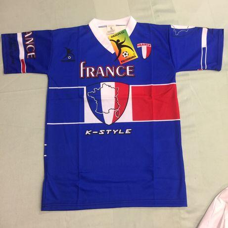 Tshirts futebol França - vários tamanhos adulto e criança