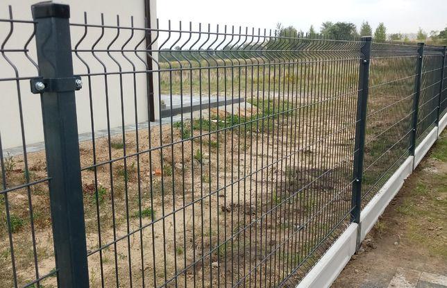 Panel ogrodzeniowy panele ogrodzenia MONTAŻ fi3fi4fi5 antracyt zielony
