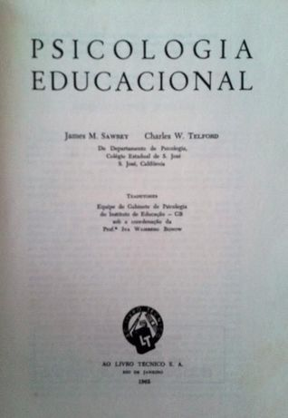 "Vendo ""Psicologia Educacional"" de J. Sawrey e C. Telford"
