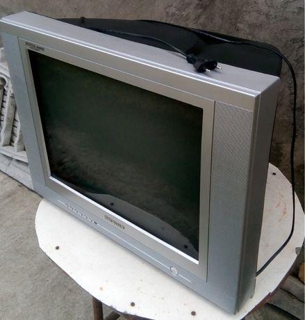 Цветной телевизор BRAVIS 21F20X (на запчасти или под восстановление)
