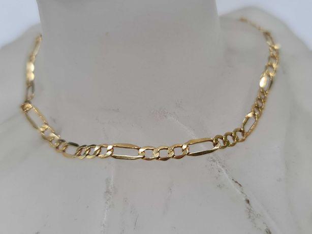 Delikatna złota bransoletka Figaro/ 585/ 1.32 gram/ 21 cm