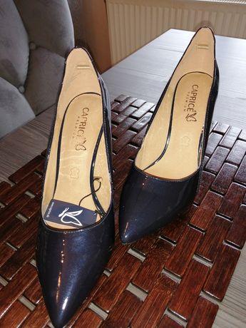 Pantofle Caprice rozm. 40.5 Granatowe