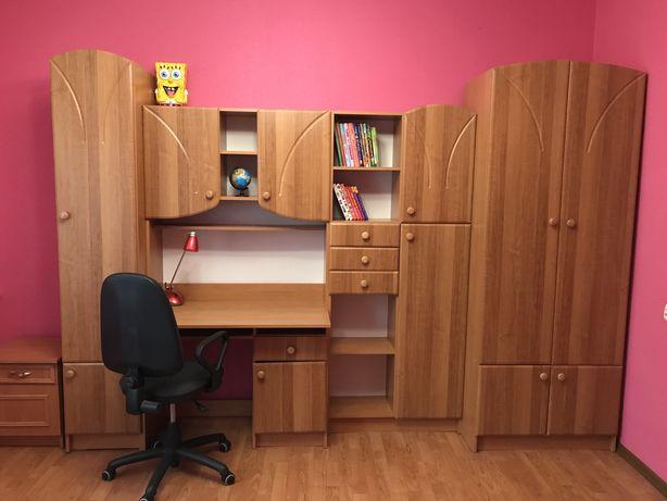 СРОЧНО! Стенка детская для учебы стол письменный шкаф детская комната