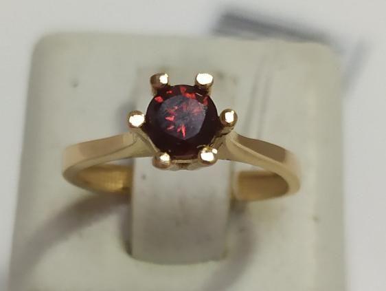 Кольцо из красного золота с цирконием (12655128) (12655128)